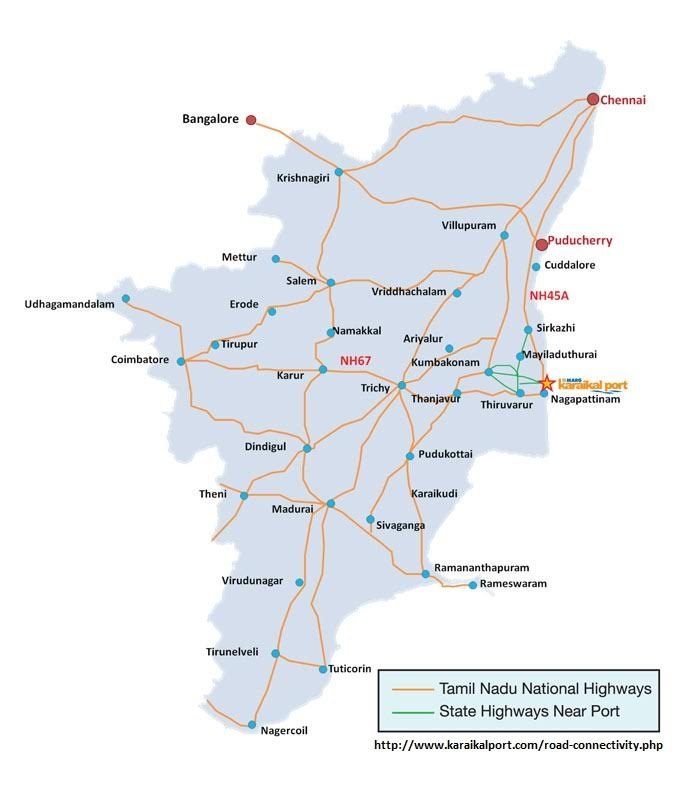 4- Modernday Trade Routes Tamil Nadu